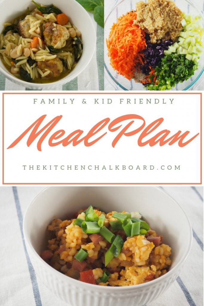 The Kitchen Chalkboard Meal Plan