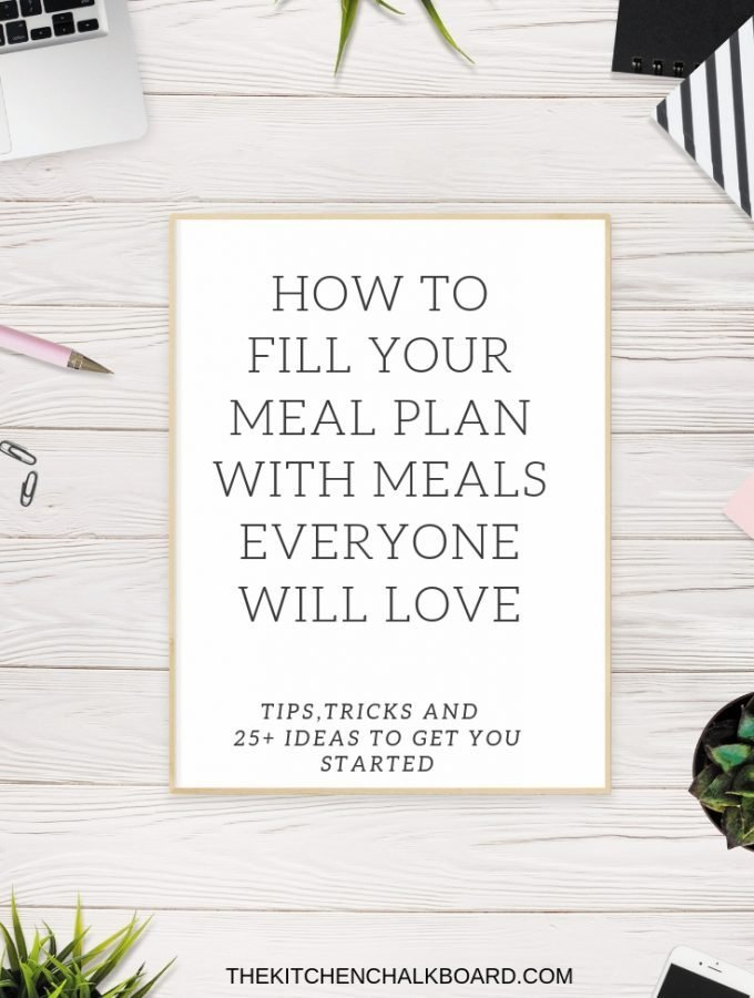 How to Fill Your Meal Plan