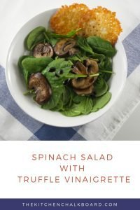 Spinach Salad with Truffle Vinaigrette