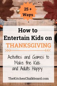 Entertain Kids on Thanksgiving