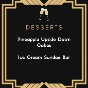 1920s themed party food desserts