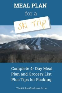 Ski Vacation Meal Plan on a Budget