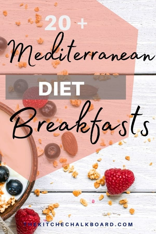 Mediterranean Diet Breakfast Ideas Pin