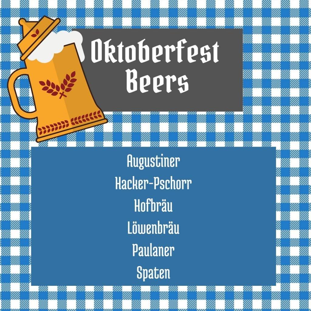 Oktoberfest Beer List