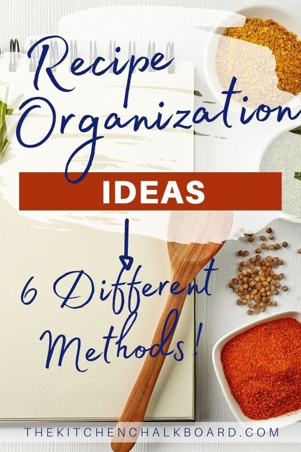 Recipe Organization Pin