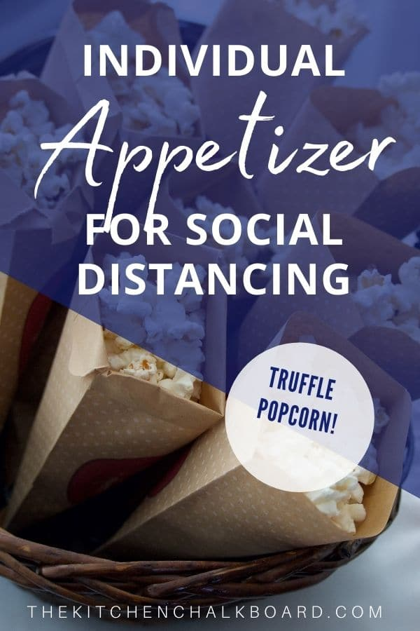 Pinterest Pin Individual Appetizer For Social Distancing