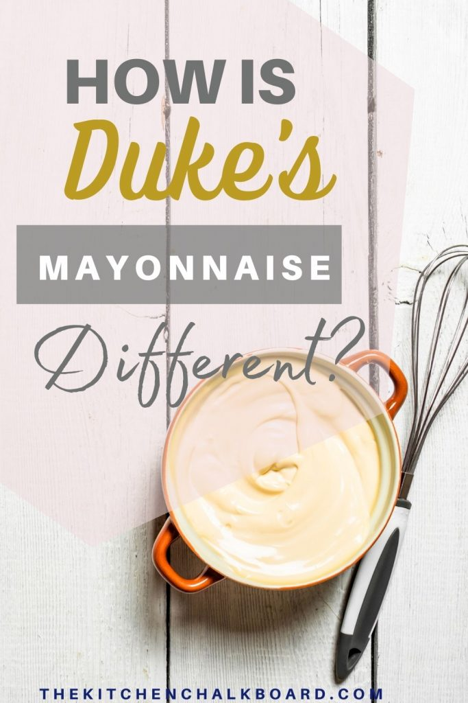 Duke's mayo differences
