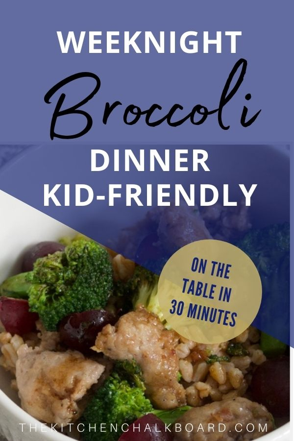 Kid-friendly broccoli dinner image