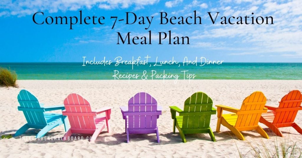Header Image Complete Beach Vacation Meal Plan