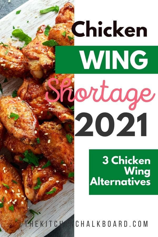 Chicken Wing Shortage 2021 Pinterest Image