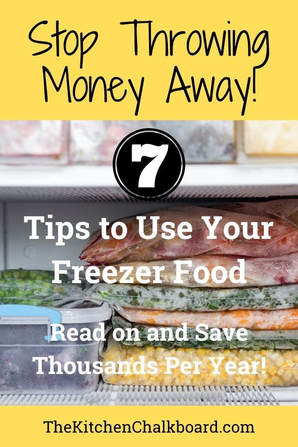 Use up freezer food