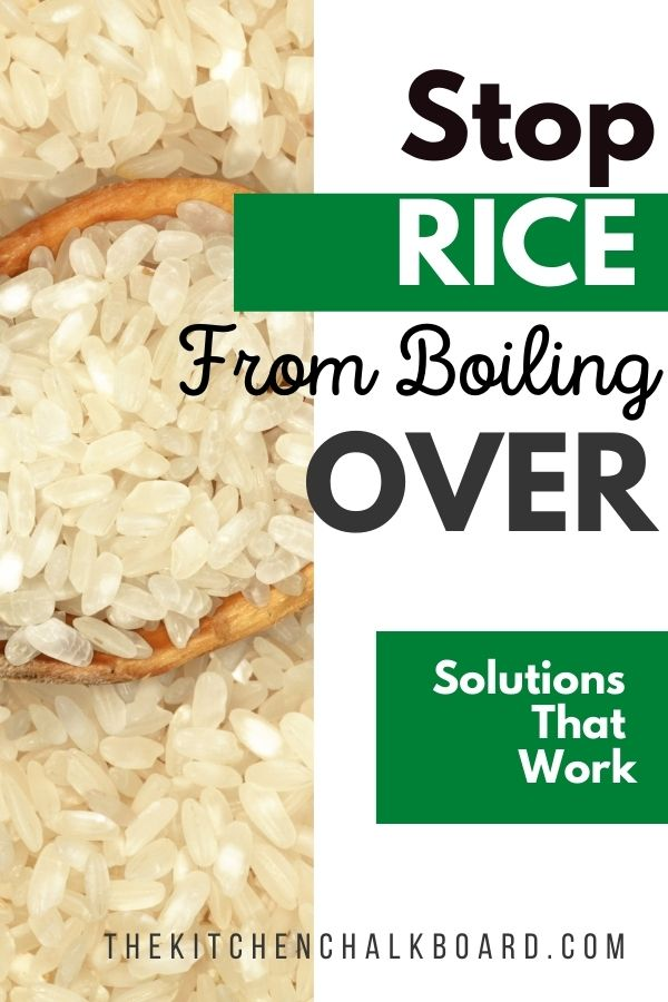 How to stop your rice from boiling over